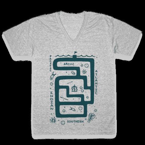 Zoo Plankton V-Neck Tee Shirt
