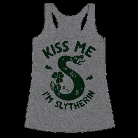 Kiss Me I'm Slytherin Racerback Tank Top