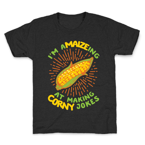 A-maize-ing Corny Jokes Kids T-Shirt