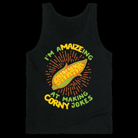 A-maize-ing Corny Jokes Tank Top