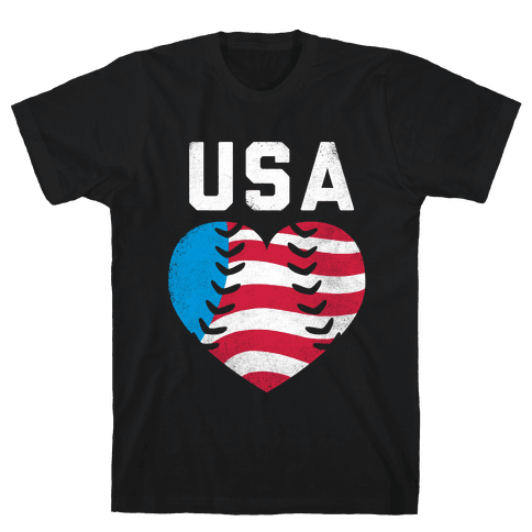 USA Baseball Love (Tank) Mens T-Shirt