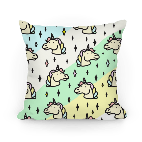 Cute Pastel Unicorn Pattern Pillow