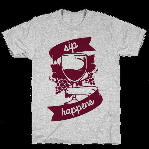 Sip Happens Mens T-Shirt