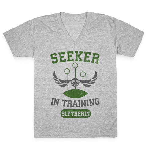 Seeker In Training (Slytherin) V-Neck Tee Shirt