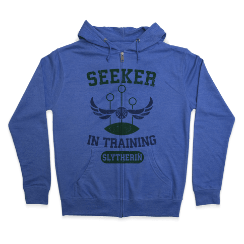 Seeker In Training (Slytherin) Zip Hoodie