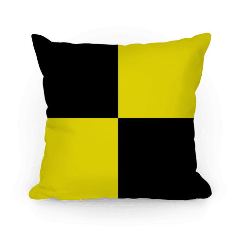 Hufflepuff House Color Block Pattern Pillow
