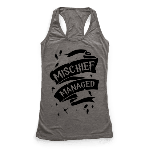 Mischief Managed Racerback Tank Top