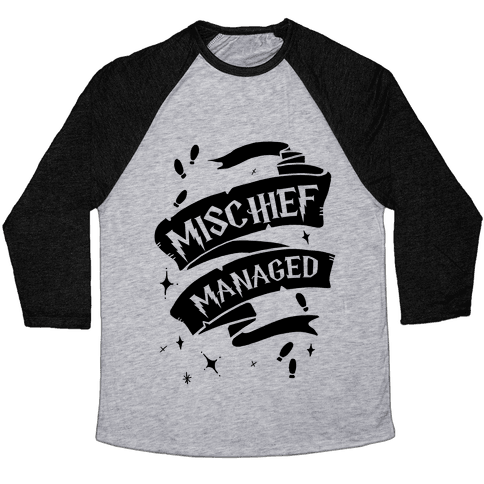 Mischief Managed Baseball Tee