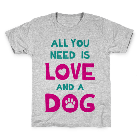 Love And A Dog Kids T-Shirt