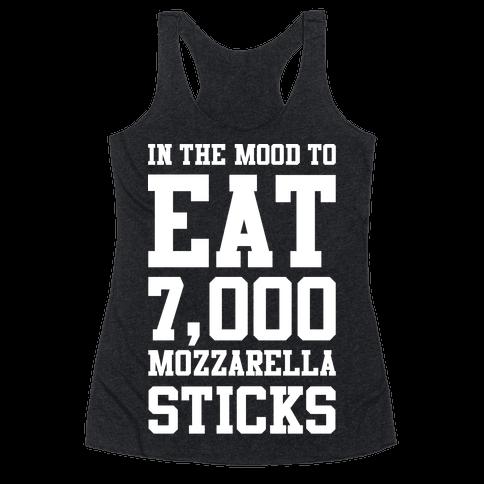 7,000 Mozzarella Sticks Racerback Tank Top