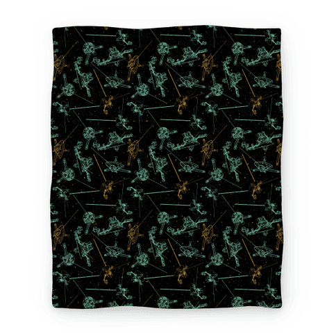 NASA Wanderlust Spacecrafts Pattern Blanket
