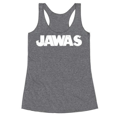 Jawas (Jaws/Star Wars Parody) Racerback Tank Top