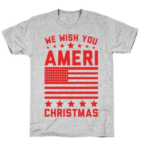 We Wish You AmeriChristmas Mens T-Shirt