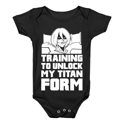 Training To Unlock My Titan Form Female Titan Parody Baby Onesy