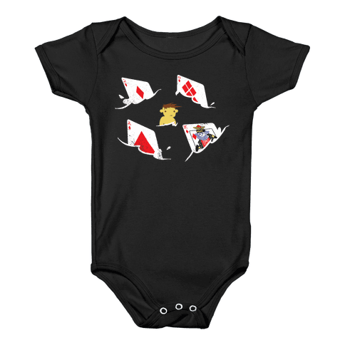 Card Sharks Baby Onesy