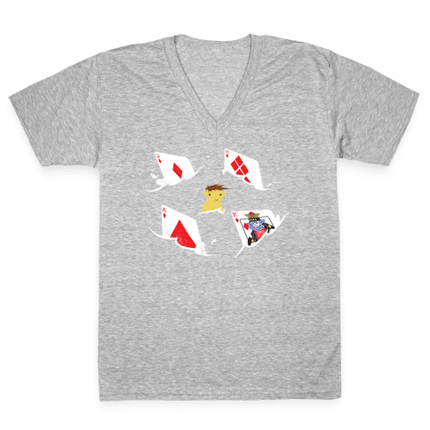 Card Sharks V-Neck Tee Shirt