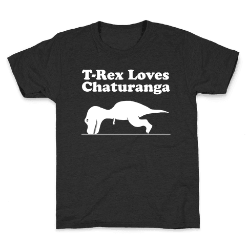 T-Rex Loves Chaturanga Kids T-Shirt