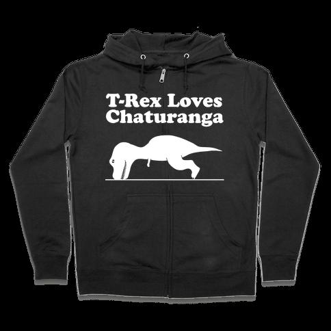 T-Rex Loves Chaturanga Zip Hoodie