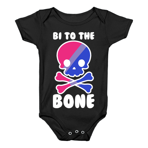 Bi to the Bone Baby Onesy