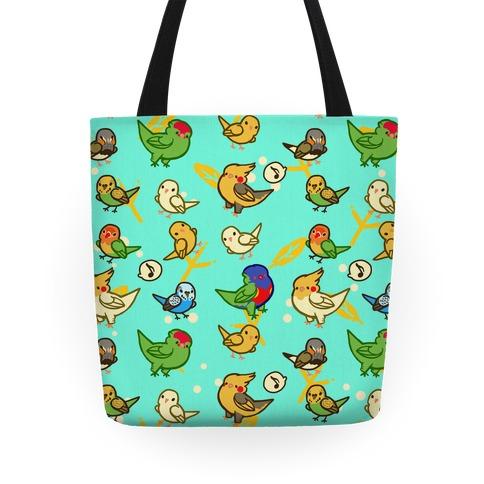 Bird Lover Pattern Tote