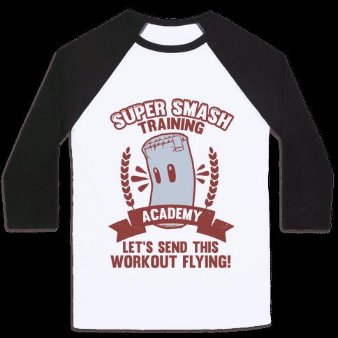 Super Smash Training Academy Baseball Tee