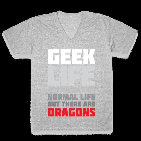 Geek Life V-Neck Tee Shirt