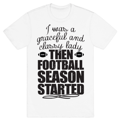 Football Lady Mens T-Shirt