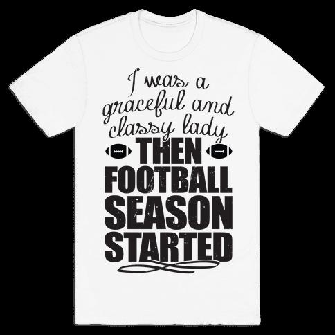 Football Lady Mens T-Shirt