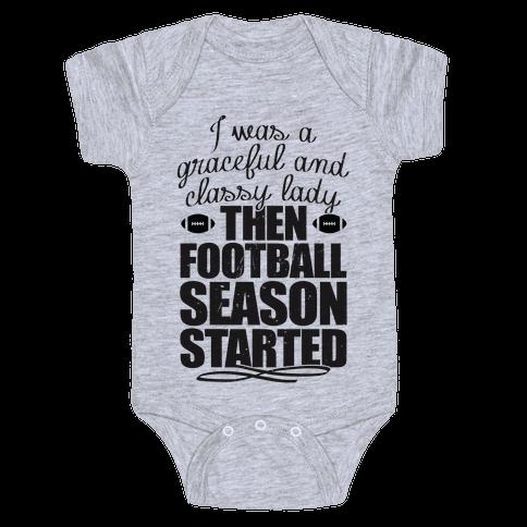 Football Lady Baby Onesy