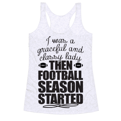 Football Lady Racerback Tank Top
