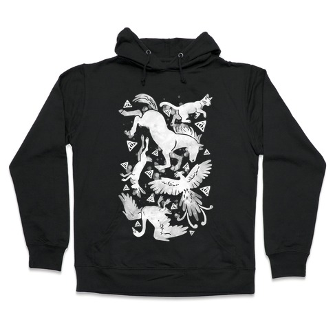 Hogwarts Patronus Pattern Hooded Sweatshirt