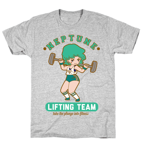 Neptune Lifting Team Parody Mens T-Shirt