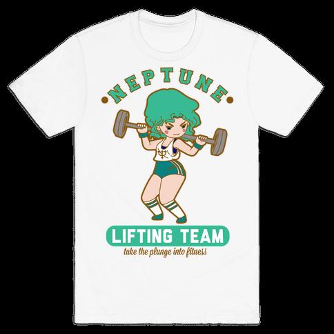 Neptune Lifting Team Parody Mens T-Shirt