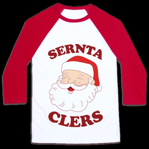 Derpy Santa Claus Baseball Tee