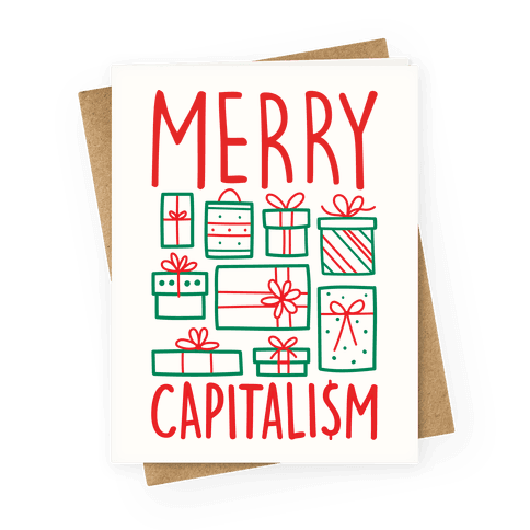 Merry Capitalism Greeting Card
