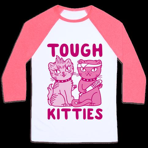 Tough Kitties Baseball Tee