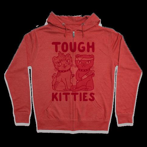 Tough Kitties Zip Hoodie