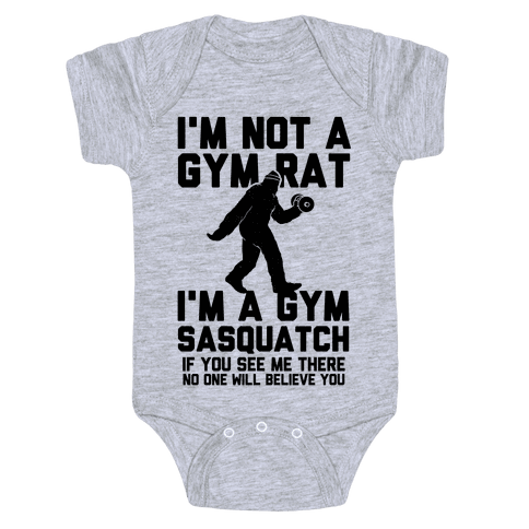 I'm a Gym Sasquatch Baby Onesy