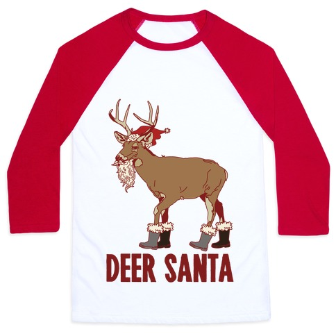 Deer Santa Baseball Tee