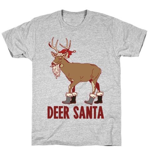 Deer Santa T-Shirt