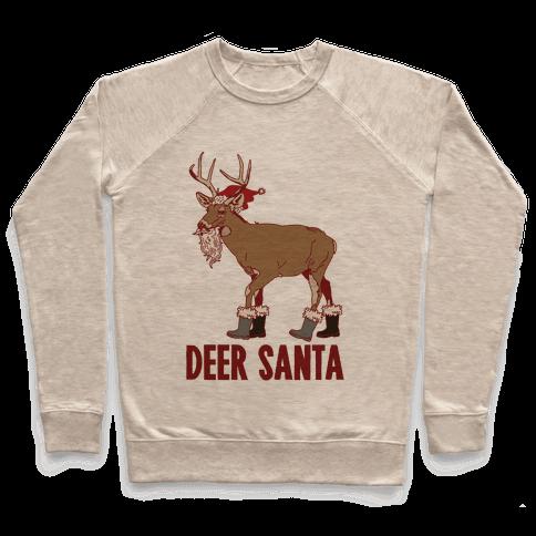 Deer Santa Pullover