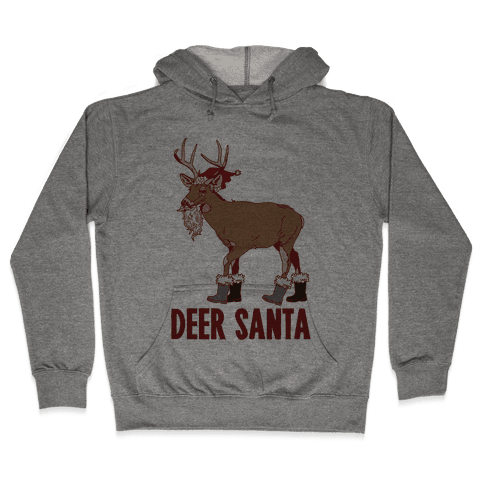 Deer Santa Hooded Sweatshirt