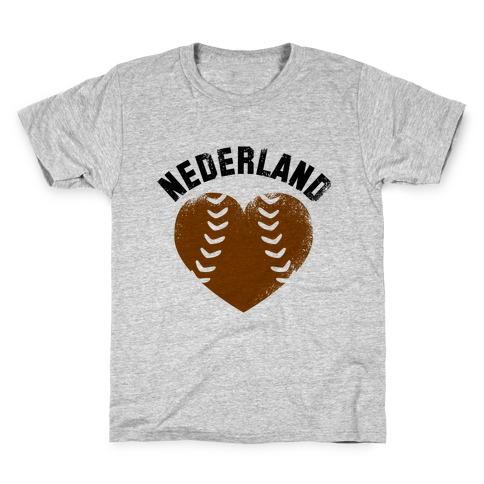 Nederland Baseball Love (Baseball Tee) Kids T-Shirt