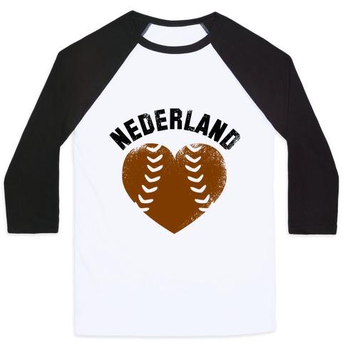 Nederland Baseball Love (Baseball Tee) Baseball Tee