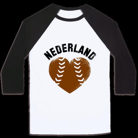 Nederland Baseball Love (Baseball Tee)