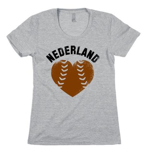 Nederland Baseball Love (Baseball Tee) Womens T-Shirt