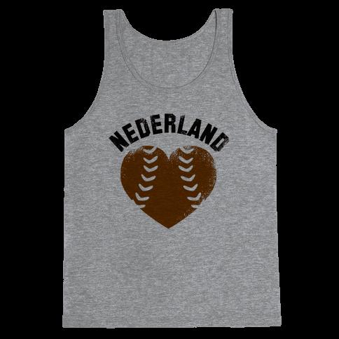 Nederland Baseball Love (Baseball Tee) Tank Top