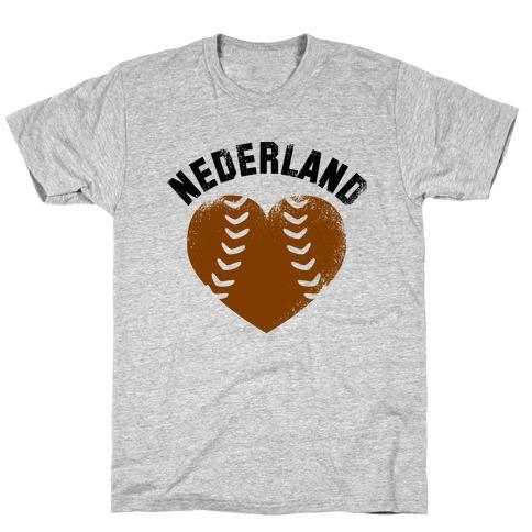 Nederland Baseball Love (Baseball Tee) T-Shirt