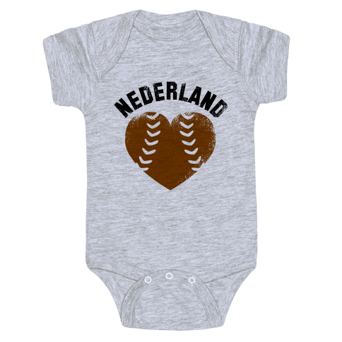 Nederland Baseball Love (Baseball Tee) Baby Onesy