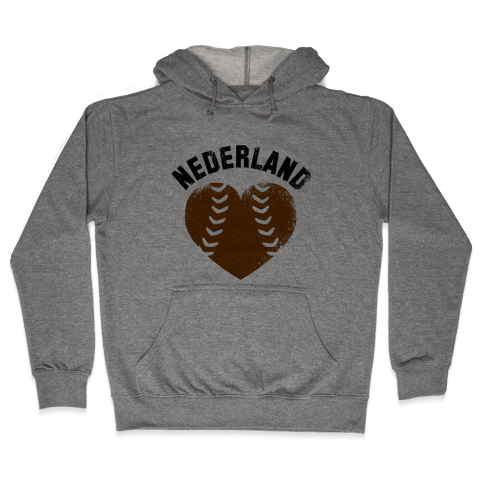 Nederland Baseball Love (Baseball Tee) Hooded Sweatshirt